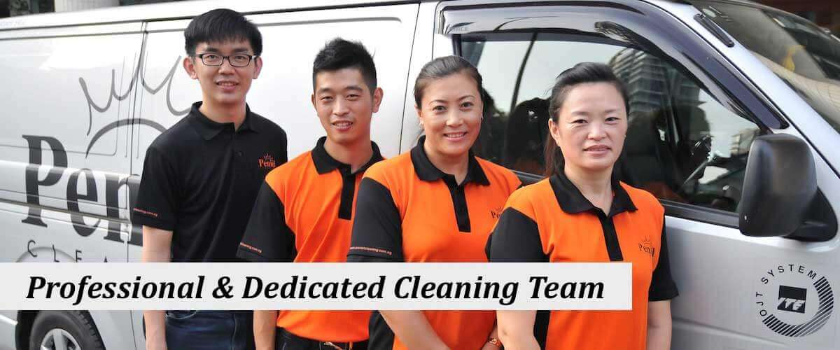 Professional and dedicated cleaning teams